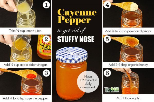 cayenne pepper remedy for stuffy nose