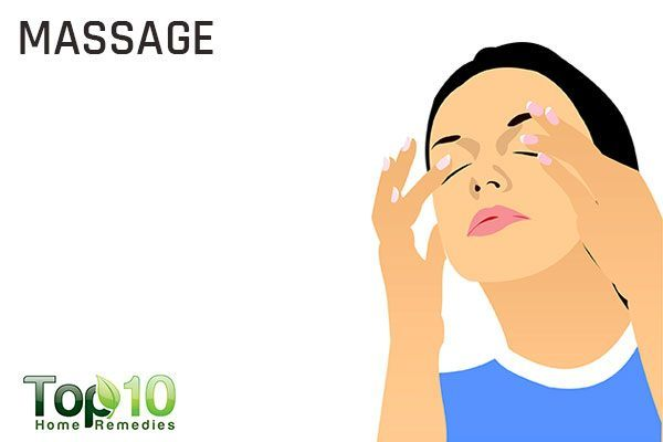 massage your eyes to get rid of dry eyes