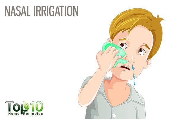 nasal irrigation for stuffy nose