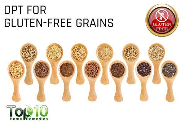 opt for gluten free grains