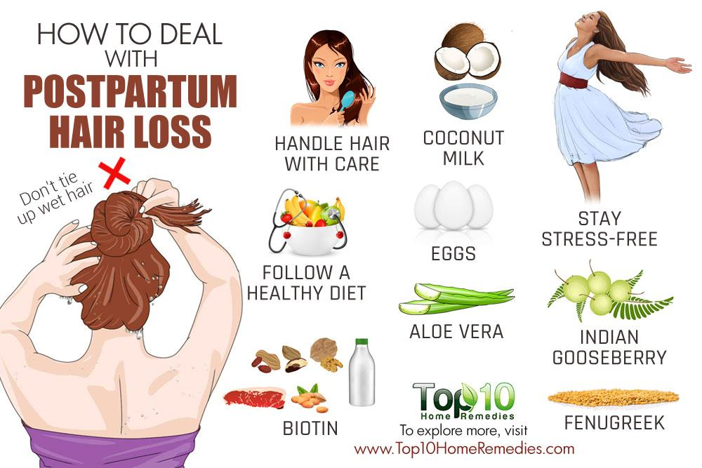How To Deal With Postpartum Hair Loss Top 10 Home Remedies
