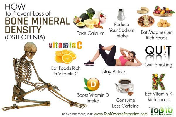how to prevent loss of bone mineral density
