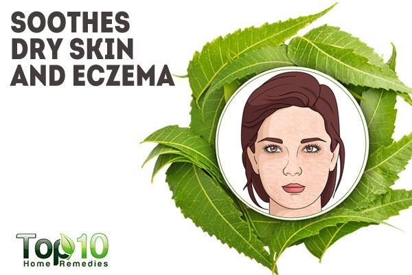 neem soothes dry skin and eczema