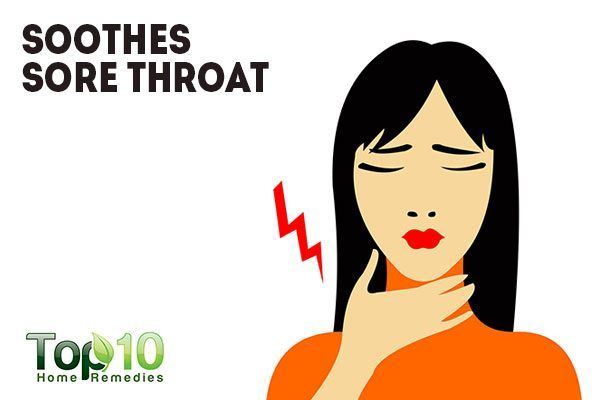 drinking warm water soothes sore throat