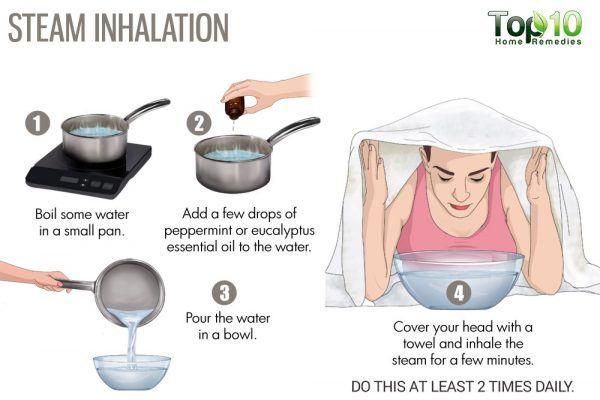 steam inhalation for stuffy nose
