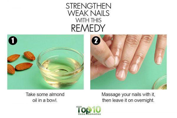 almonds strengthen weak nails