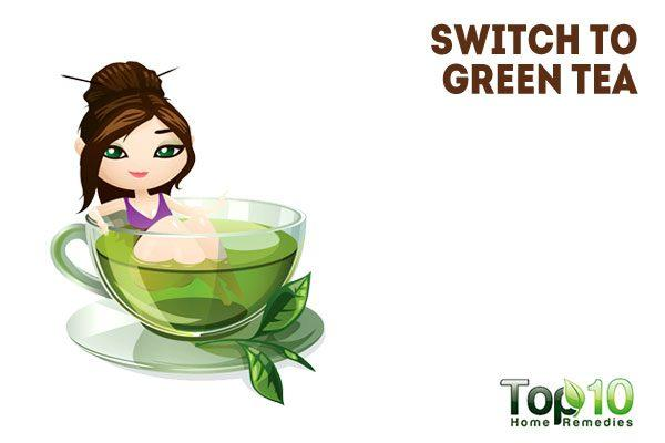 Drinking Green Tea After Waking Up