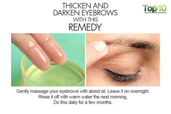 almonds thicken eyebrows