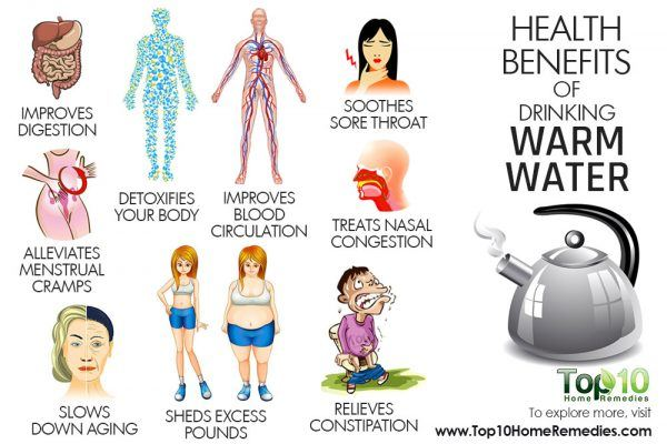 health benefits of drinking warm water