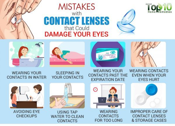 mistakes you make when wearing contact lenses
