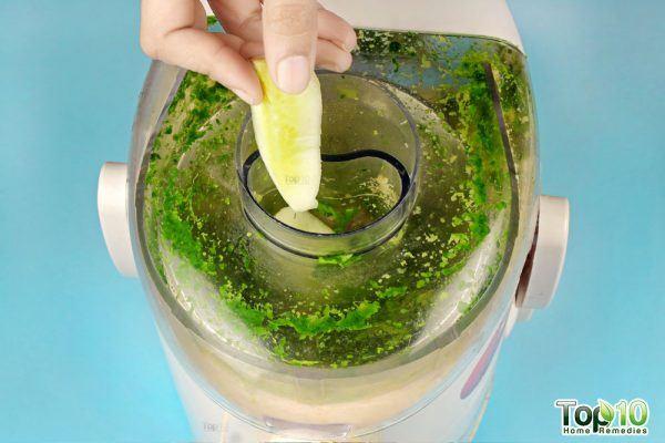 put cucumber in the juicer