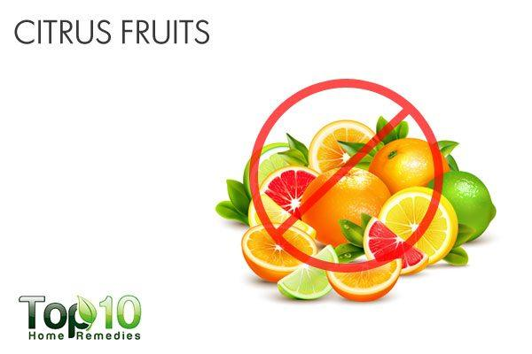 citrus fruits trigger acid reflux