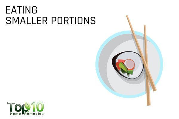 eating smaller portions