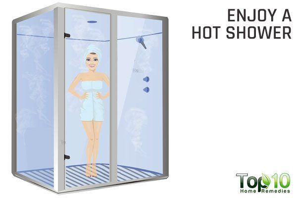enjoy ho shower to ease wheezing