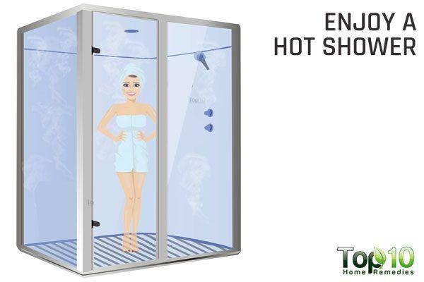 enjoy ho shower to ease wheezing