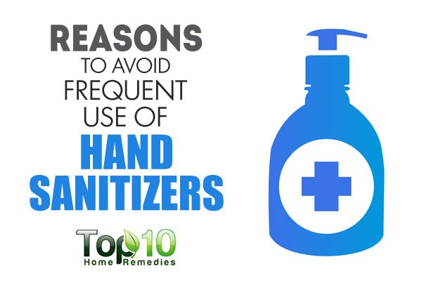 reasons to avoid frequent use of hand sanitizers