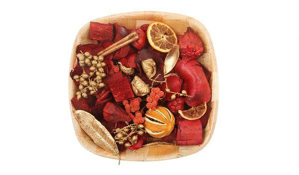 homemade potpourri with leftover peels