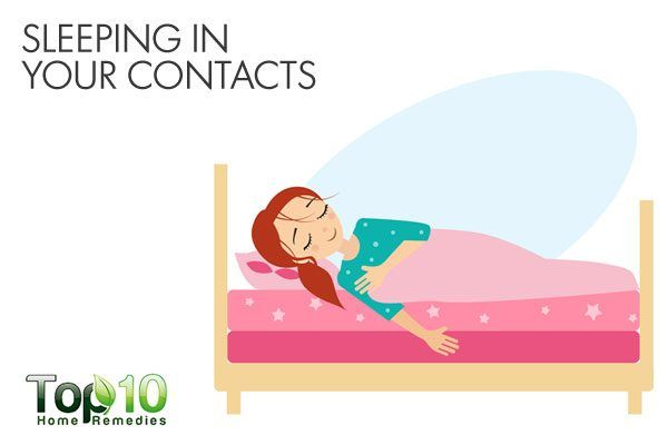 do not sleep in your contact lenses