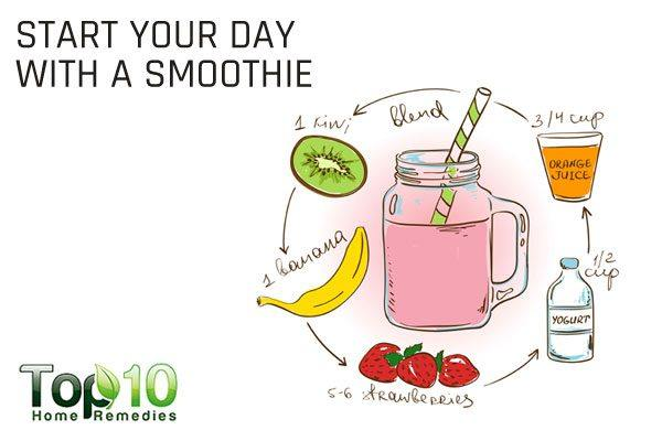 start your day with a smoothie