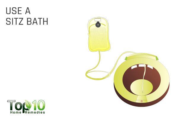 use a sitz bath