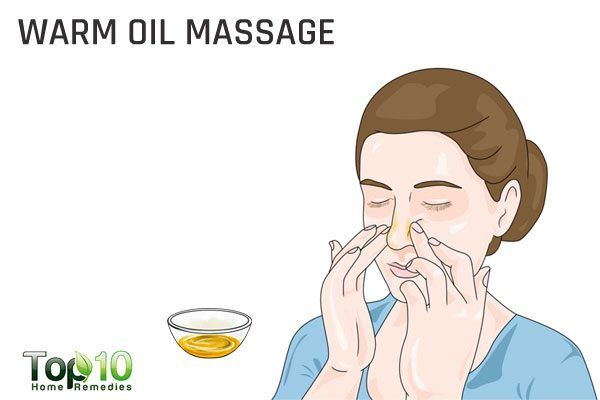 warm oil massage for wheezing