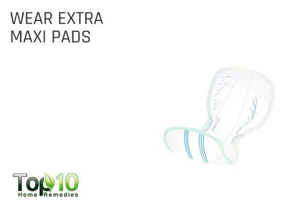 wear extra maxi pads