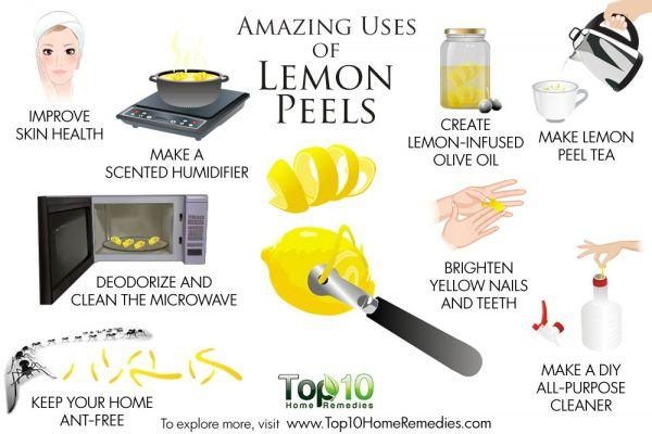 amazing uses of lemon peels