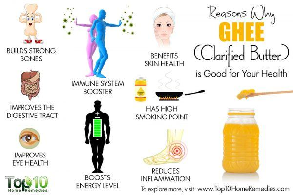 reasons why ghee is good for your health