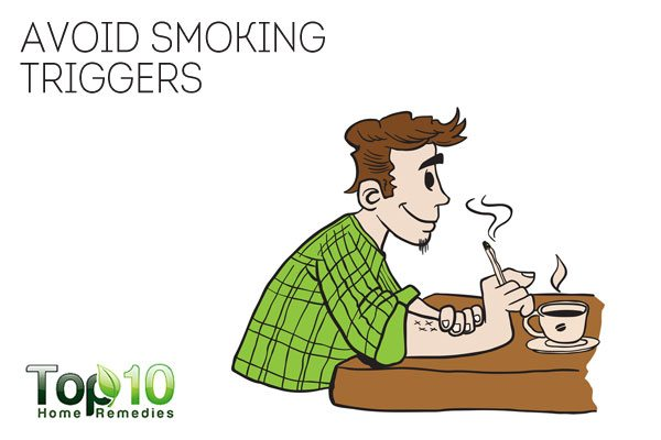 avoid smoking triggers