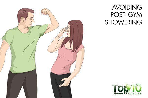 avoiding post gym showering