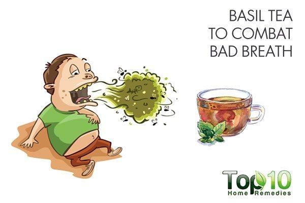 basil tea to combat bad breath