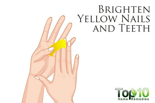 brighten your yellow nails with lemon peels