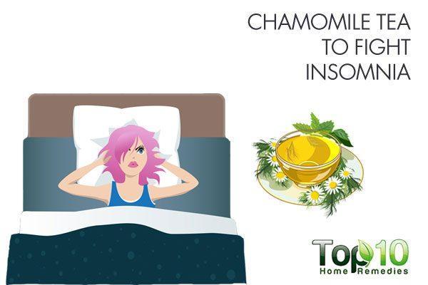 chamomile tea to fight insomnia