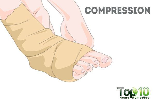 compression to relieve swelling