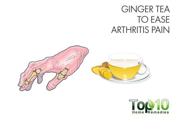 ginger tea to ease arthritis