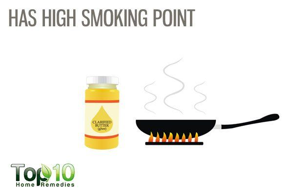 ghee has high smoking point