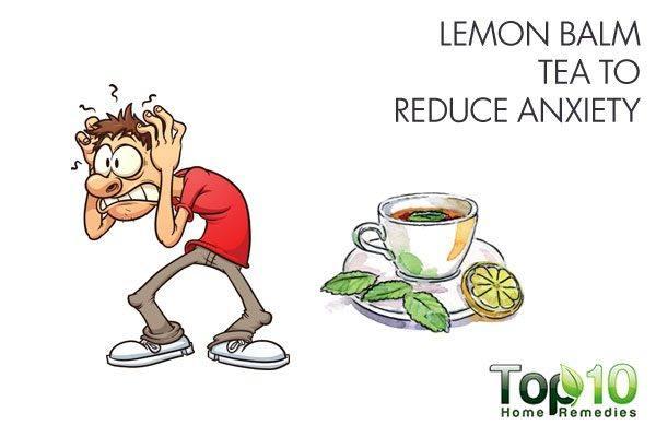 lemon balm tea to reduce anxiety