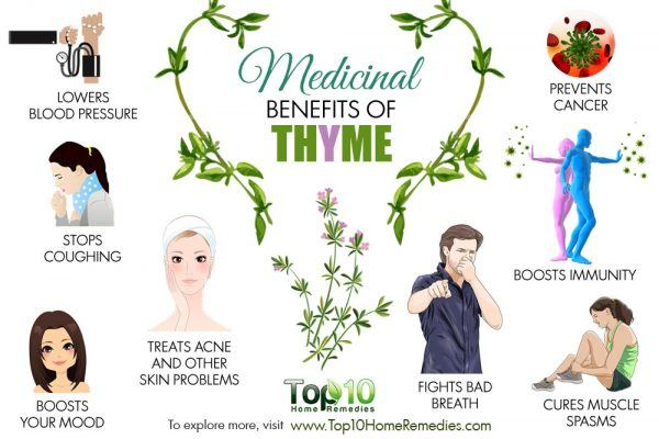 medicinal benefits of thyme