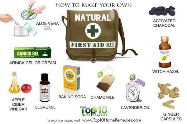 how to make natural first aid kid