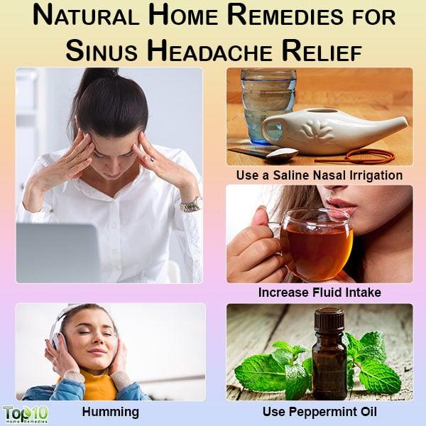 Natural home remedies for sinus headache relief
