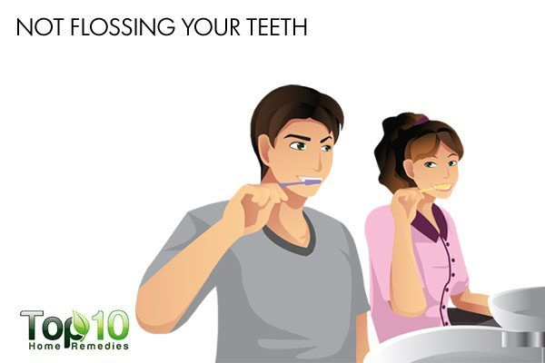 not flossing your teeth