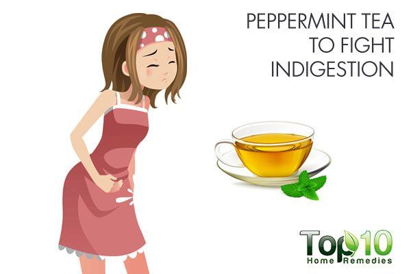 peppermint tea to fight indigestion