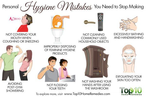 personal hygiene mistakes to avoid