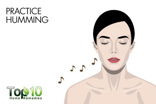 practice humming to reduce sinus headache