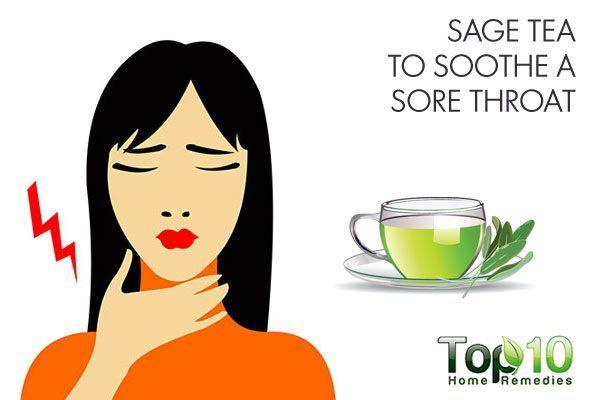 sage tea to soothe sore throat