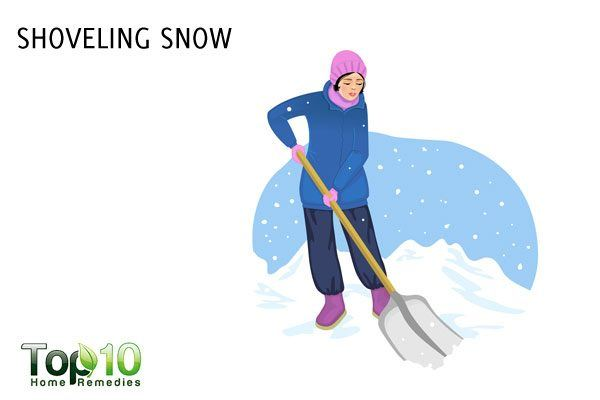 shoveling snow to lose weight