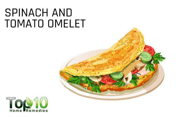 spinach and tomato omlet for diabetics