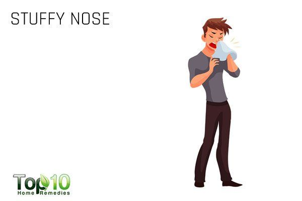 stuffy nose due to sinus infection