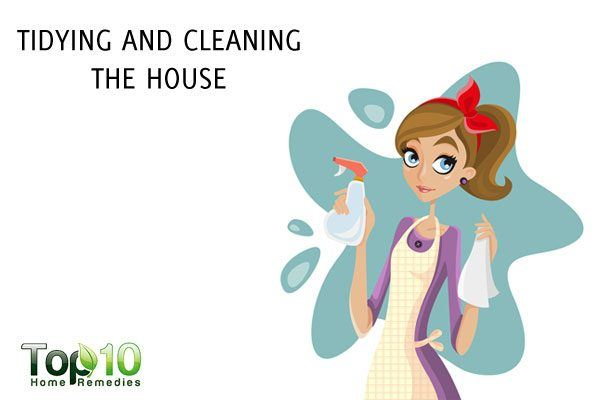 tidying and cleaning the house to lose weight