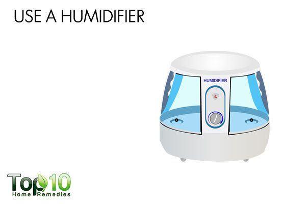 use a humidifier to ease sinus headache